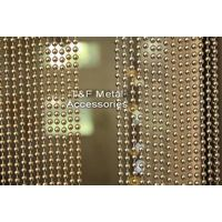 Gold bead chain curtain