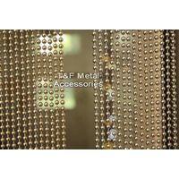 Gold bead chain curtain