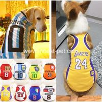 sports pet dog product, football dog tshirt for large dogs