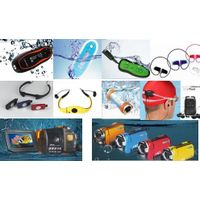 waterproof swimmer IPX8 mp3 player headset thumbnail image