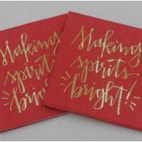 gold stamping paper napkin