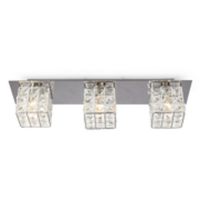 3 HEAD G9 IRON SQUARE SHAPE CRYSTAL WALL LIGHT-W58523