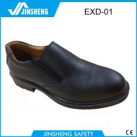 No lace double leather toecap formal safety shoes