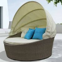 Hotel furniture round daybed with canopy (R913) thumbnail image