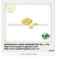 neodymium iron boron magnet with gold coating