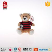 Delicate best made toys plush bear with soccer manufacture