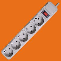 Grey Color 5 way extension socket with switch&surge protect(E2005ES) thumbnail image