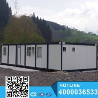 Hot sell beautiful green prefab house container
