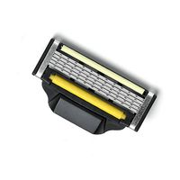 five blades razor with yellow guided roller