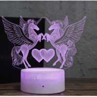 3D Deco Light USB Charge Touch Switch Lamp Colorful Kids Night Light thumbnail image