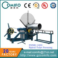 Spiral duct forming machine, spiral tube forming machine