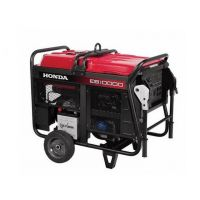 Honda EB10000 - 9000 Watt Electric Start Portable Industrial Generator W/ GFCI Protection (CARB)