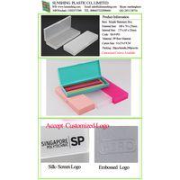 Plastic Transparent PP School Pen Storage Clear Packing Box Pencil Case thumbnail image