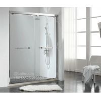 Luxury bathroom SUS304 stainless steel tempered glass shower cubicles enclosure bathrom roselakebath