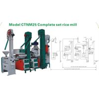 25ton rice miller machine