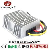 9V 12V 24V to 13.8V 10A 138W DC DC Converter 8-40V Input Step Up/Step Down Voltage Regulator