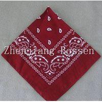 Promotional paisley printing bandana screen printing big handkerchief thumbnail image