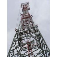 70M Self-supporting 4-legged Lattice Telecommunication Steel tower, Design Wind Speed 150kmph, 15SQM