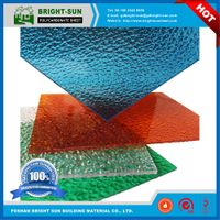 100% virgin Bright-Sun Embossed polycarbonate sheet price from China