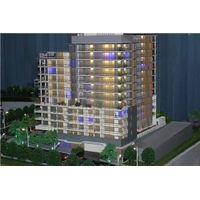 1:100 scale house model , led light architectural models