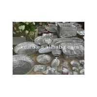 Household aluminum foil containers