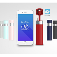 Power Bank Battery 3000mAh Smart APP Portable Mini Charger with MFI Lightning Cable for iPhone 6 6S