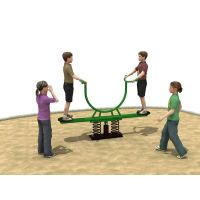 Professional Playground Equipment Semi-circle Stand Seesaw Children Physical Game Series WD-HT0201 thumbnail image