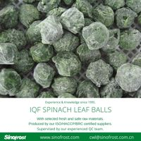 Frozen Spinach Leaf Balls/IQF Whole Leaf Spinach Balls thumbnail image