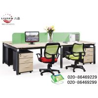 4 Seaters Straight Green Partition Elegant and Environmental Protection Office Workstation (LS-0011)