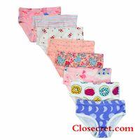 Closecret Kids Series Soft Cotton Baby Panties Little Girls' Assorted Briefs(Pack of 8) thumbnail image