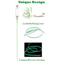 LED Visible Flowing Current Charge & Sync Cable for Micro USB Devices thumbnail image