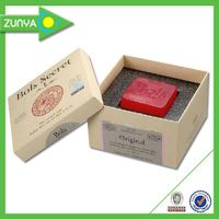 Customized matte paper soap packaging box