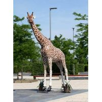 Animatronic life-size anmials giraffe model for park