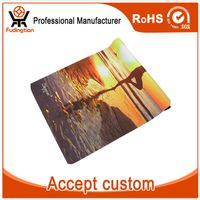 FDT Custom Print Foldable Organic Suede Rubber Yoga Mat