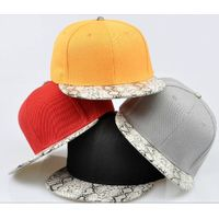 cheap 6 panel snapback cap with suede brim