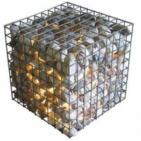 Anping factory price galvanized welded gabion mesh / gabion box