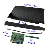 12.5-inch Notebook Screen 1920x1080 with 400 cd/m2 white luminance plus lcd controller board