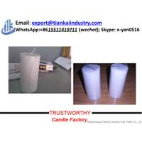 paraffin wax 4 inches white pillar candle thumbnail image