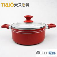 Aluminum Non-stick Ceramic cheap sauce pot With Handle cheap&high quality