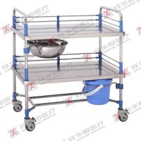 Stainless steel medical trolley hospital dressing trolley