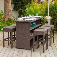 Outdoor pure manual weaving round PE rattan leisure fashion hotel restaurant tables and chairs thumbnail image