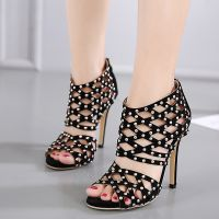 women wedding shoes rivet pumps summer shoes high heels Gladiator Sandals women pumps studded heels