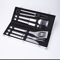 High-End Stainless Steel Alu-case 6Pc BBQ Tool Set