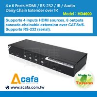 4x6 HDMI Switch&Splitter+Multiple Mixing signals Extender