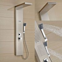 Shower Panel, Shower Set, Shower Faucet, Modern Design, Gold Color
