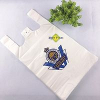 Printed Large Plastic Bags Shopping With Logo T-shirt