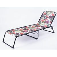 Outdoor Garden Leisure Camping Printing Oxford Folding Bed