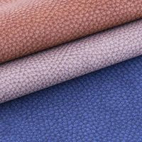 Fashion lichee pattern leather fabric - V001