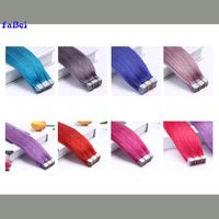 Beautiful Color Tape In Remy Human Hair Weaving Skin Weft Human Hair Extension thumbnail image