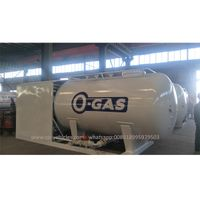 10.5 cubic Meter Cooking LPG Gas Plant Tank Skid Station For Sale thumbnail image